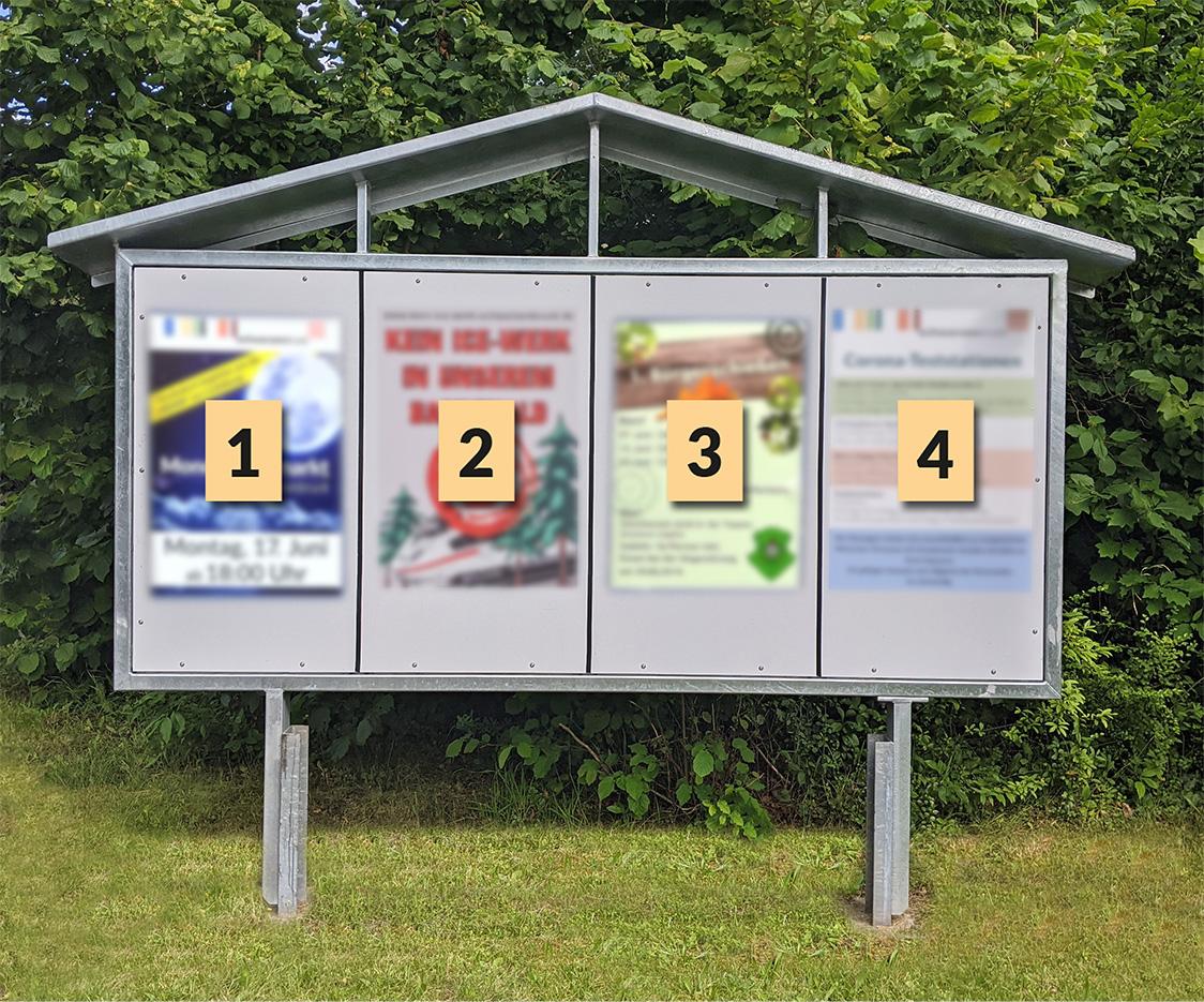 BEISPIEL: Plakattafel Ortseingang Gsteinach