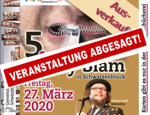 ABGESAGT | 5. Poetry Slam ist ausverkauft